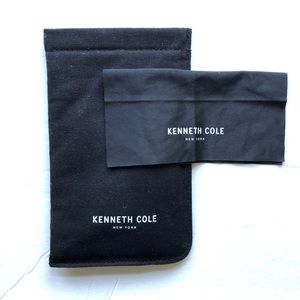 Kenneth Cole Black Soft Glasses Case And Cloth
